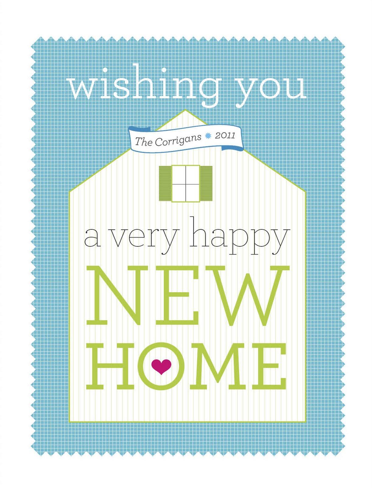 Things I Make And Stuff I Like Happy New Home Card