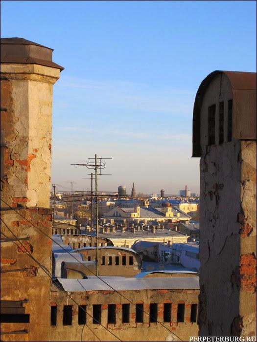 Прогулки по крышам в Петербурге - фото