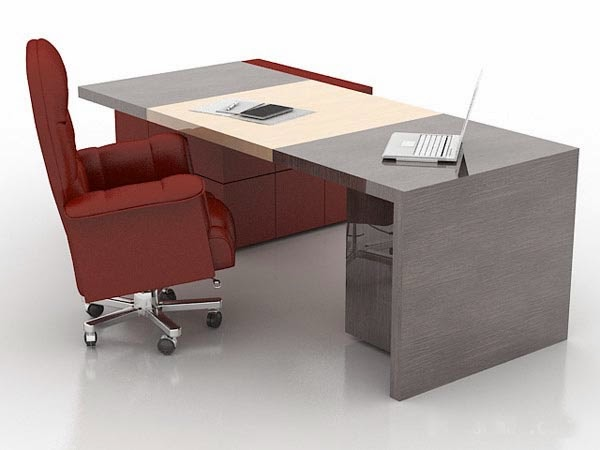 Foundation dezin decor 3d office modeling for Office table 3d design