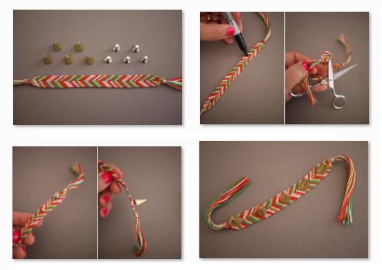 Ideas para decorar pulseras tejidas manualidades para Manualidades faciles para decorar la casa