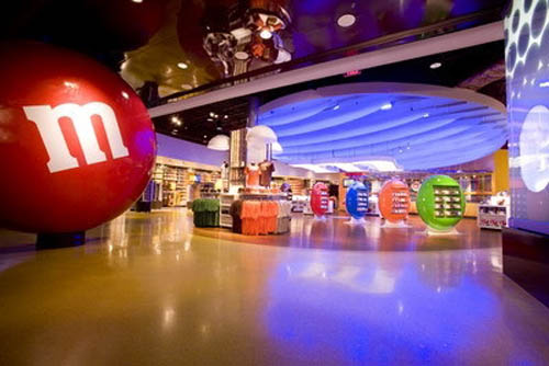 m&m World shopfront