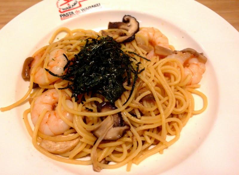 Pasta De Waraku Restaurant Changi Airport Terminal 2 Japanese Food Wafu Prawn Pasta Review lunarrive blog Singapore