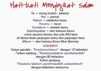 Hati-hati Menyingkat Salam, Muslim Wajib Tahu!