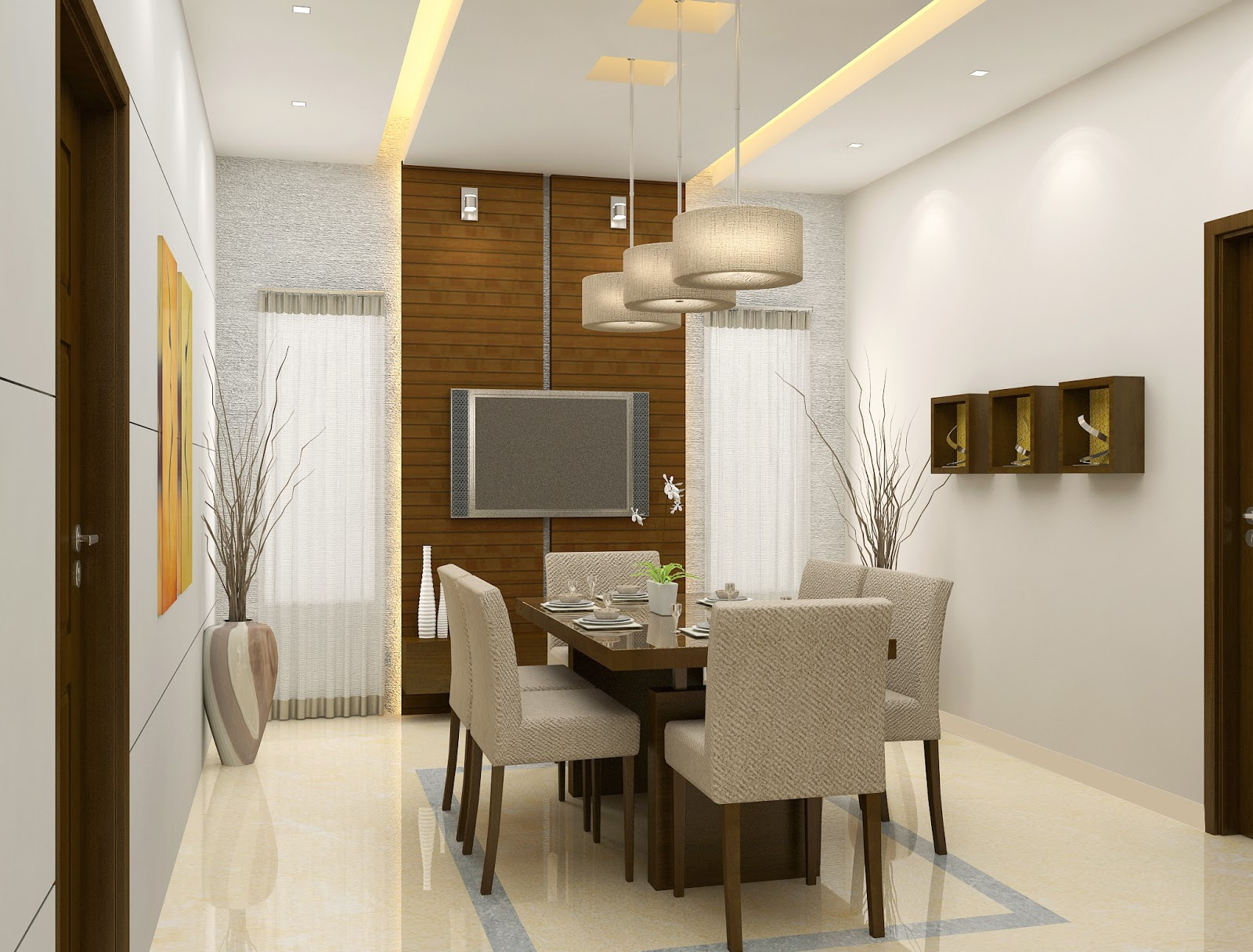 modern dining room design dining room interior dining room kerala title=