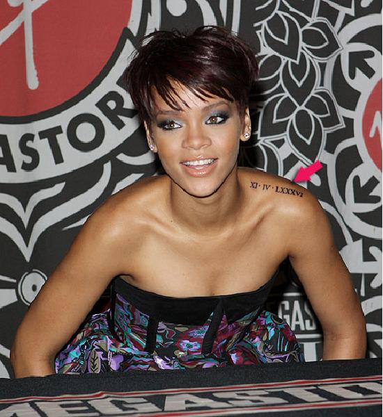 rihannas tattoo. Celebrity Rihanna Tattoo and
