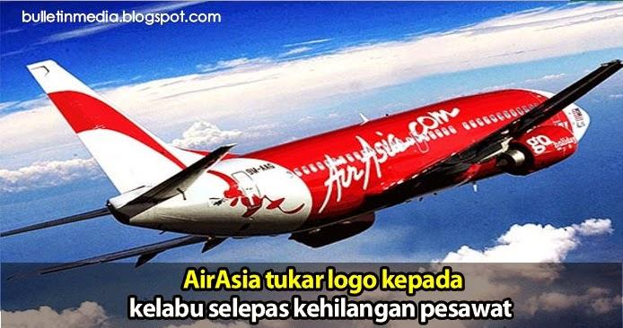 AirAsia tukar logo kepada kelabu selepas kehilangan pesawat