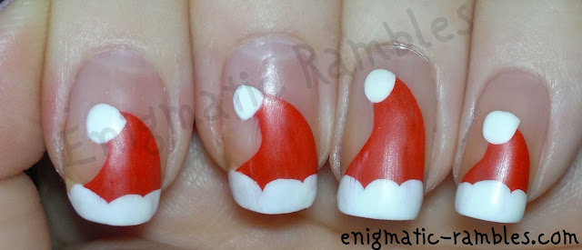 santa-hat-nails-festive-christmas