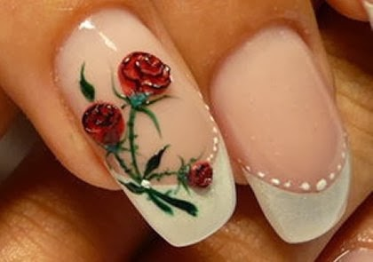 Red Rose Nail Arthttp9ailssidespotnail Side