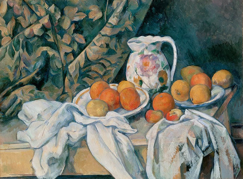 "Picture of ""Still Life with a Curtain, by Paul Cezanne, 1898"