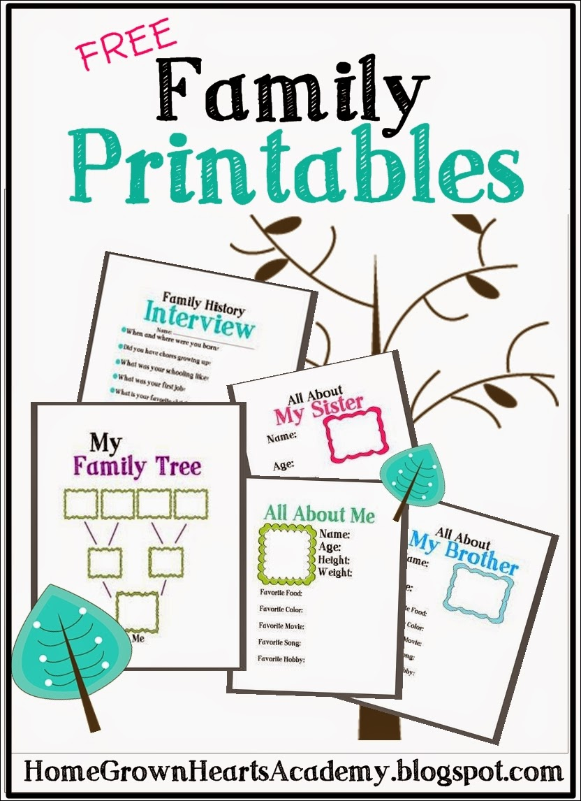 Playful image pertaining to family printables