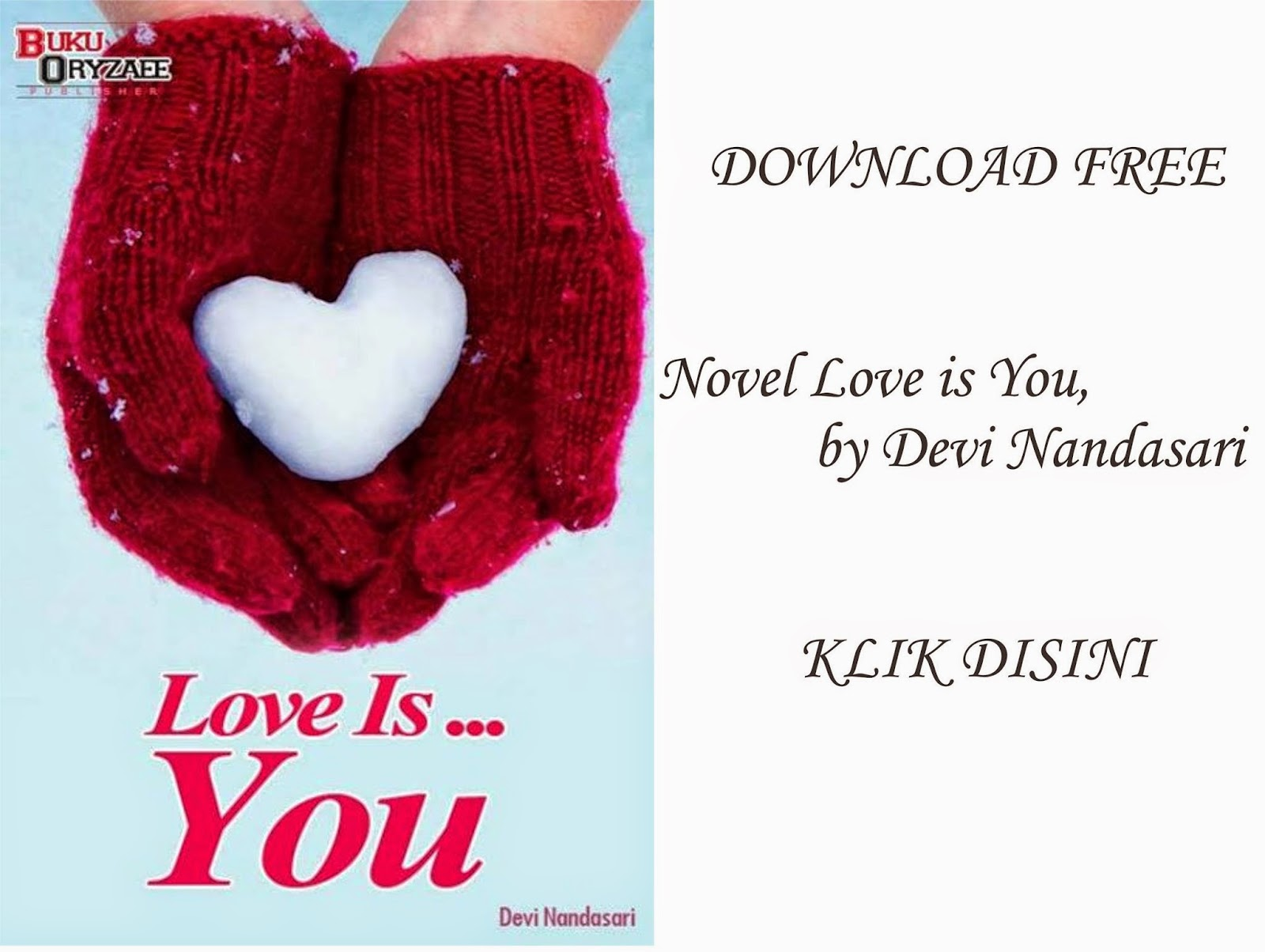 DOWNLOAD NOVEL LOVE IS YOU FREE