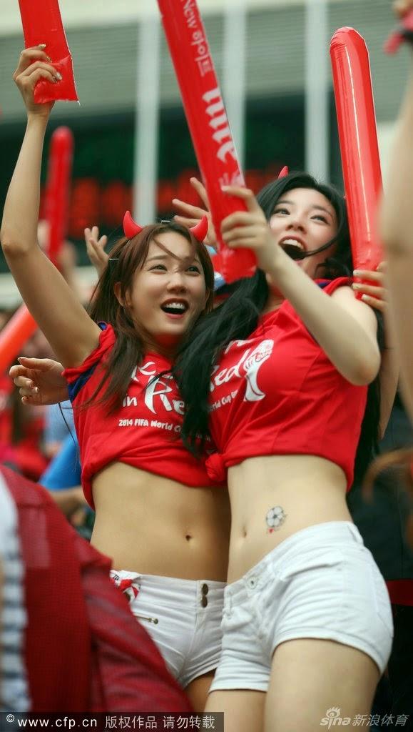 Bikin Ngiler, Suporter Korea Selatan yang Cantik dan Hot di Piala Dunia 2014