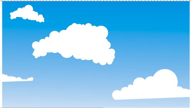 Corellevel: Corel#8: Membuat BackGround Awan dengan Vektor