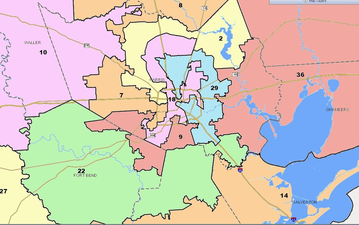 Things I Think I Think Texas Voter ID Law - Texas us house district map