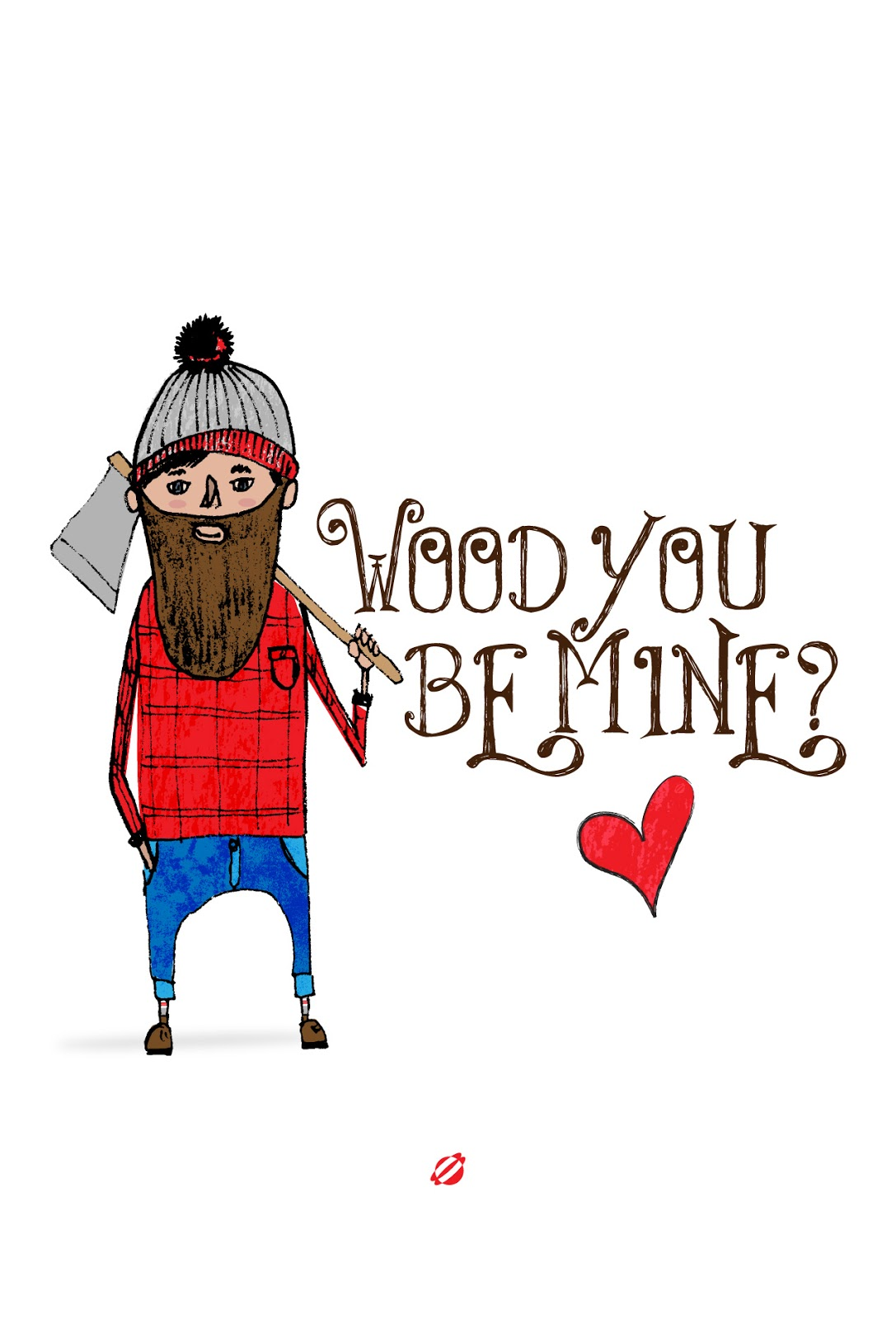 LostBumblebee ©2014 WOOD you be MINE? Free Printable