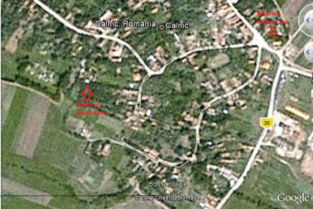 biserici calnic vedere din satelit