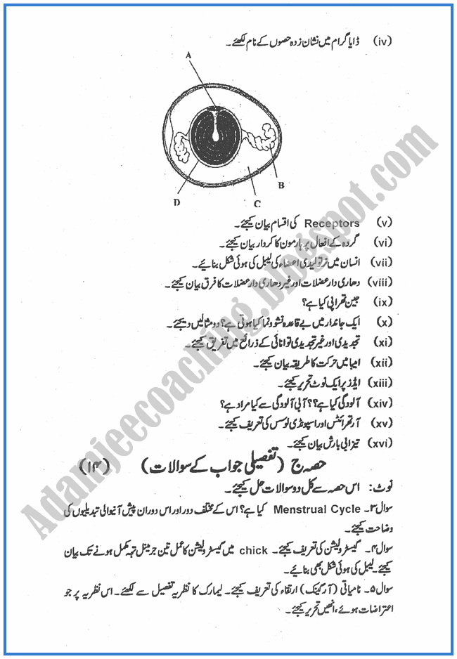 Botany-urdu-2010-past-year-paper-class-XII