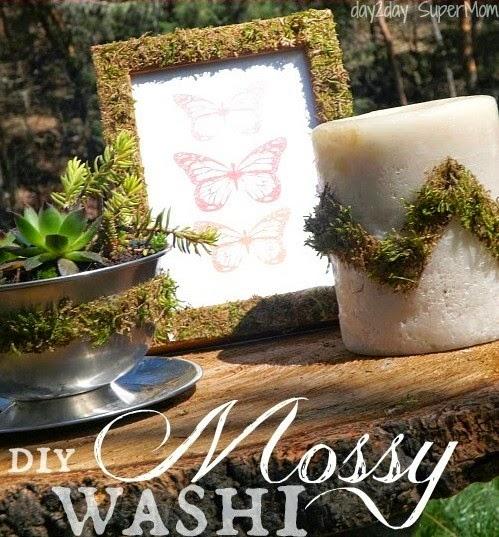 DIY Mossy Washi Tape @ Day2day SuperMom