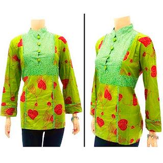 DBT2570 - Baju Bluse Batik Wanita Terbaru 2013