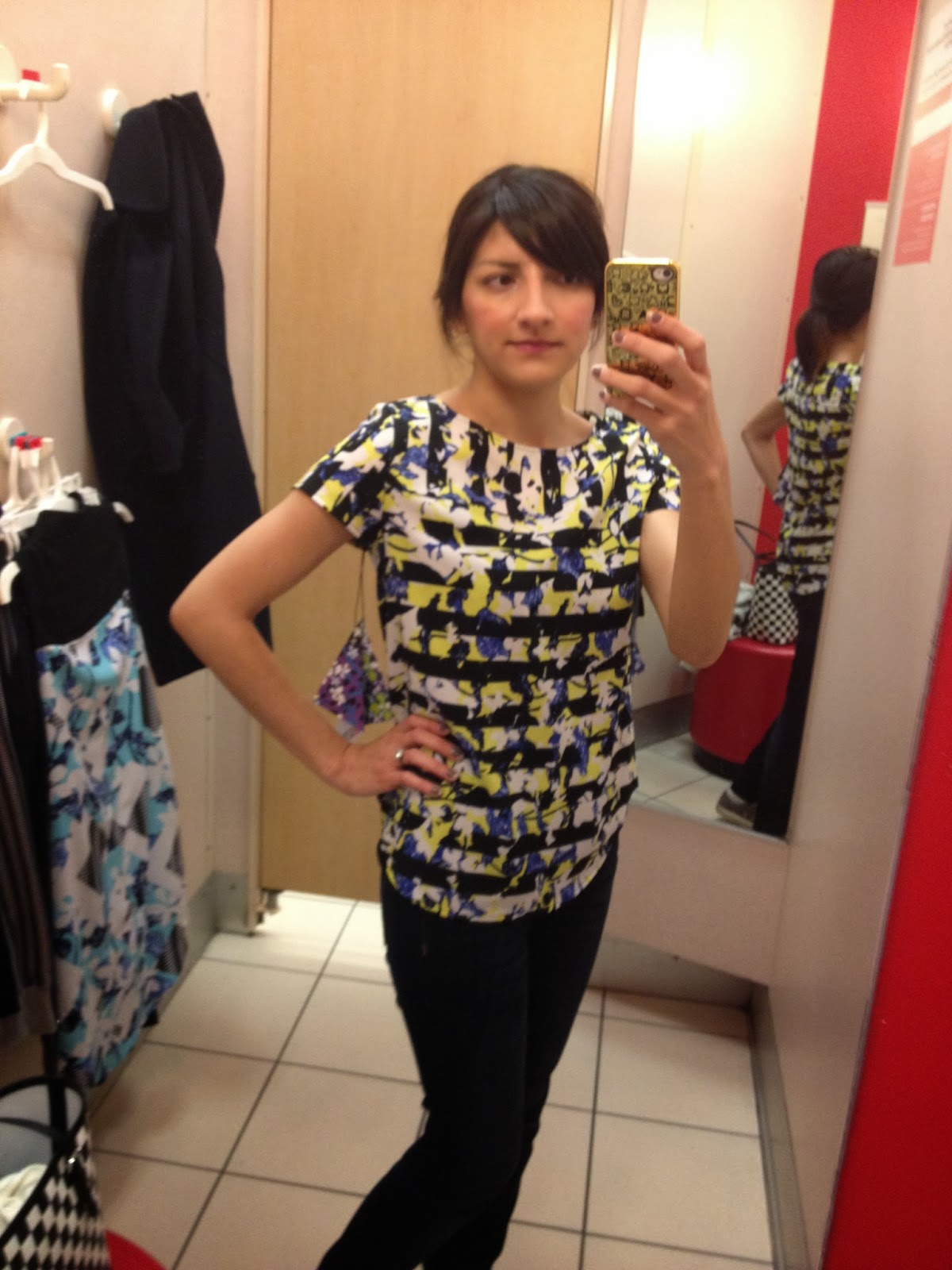 peter pilloto for target floral stripe top