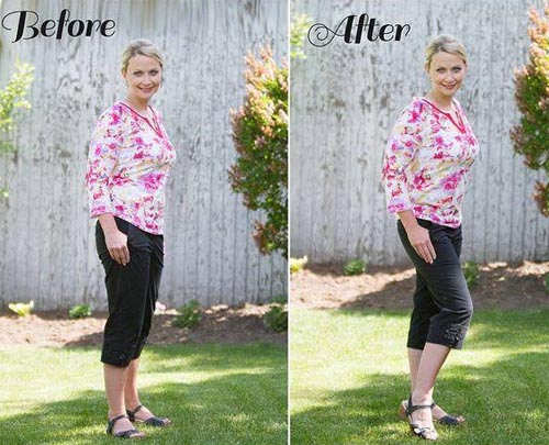 How to look thinner in photos standing position
