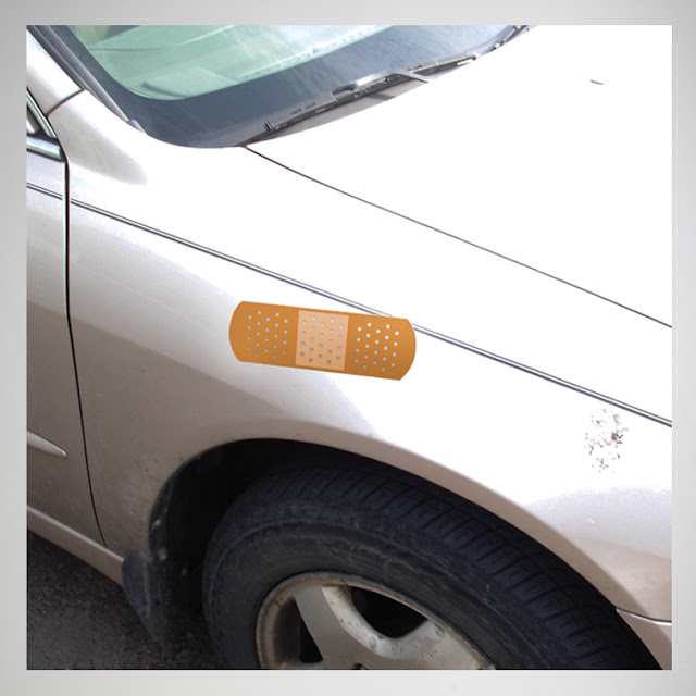 Funny 'Auto Aid' Bandage Car Sticker