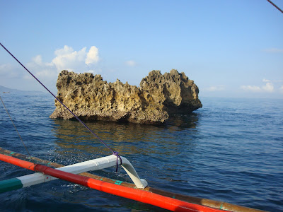 lone massive rock in Sipalay City