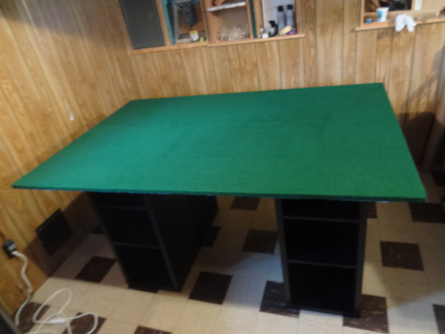 Good Some Of The Final Looks With The Felt Tabletop On The Project Table. The  Felt Is Smooth On The Top, And It Seems Like It Should Be Good For Quite A  While, ...
