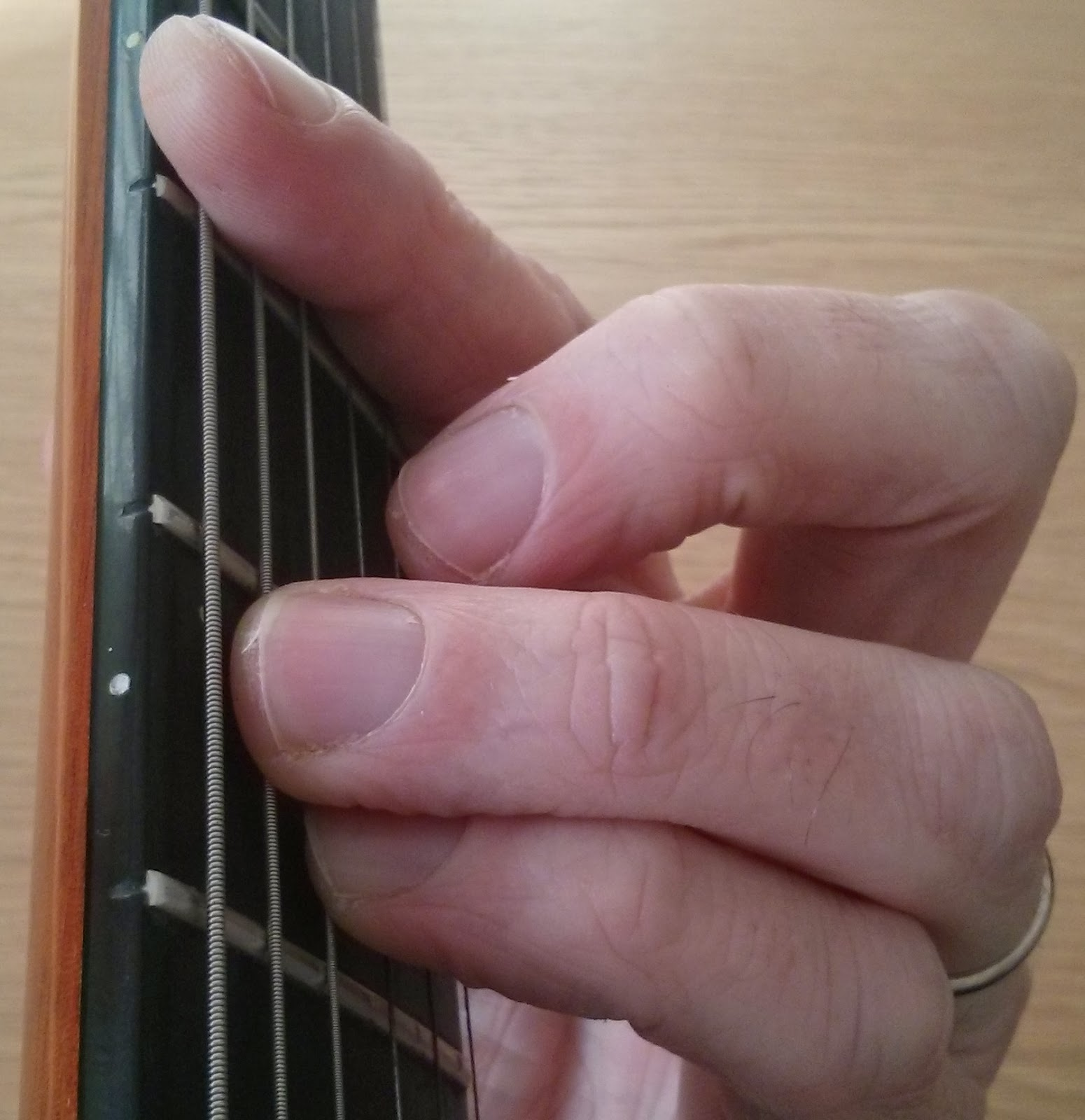 Gminor guitar chord - barre