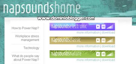 musica online para relajarse en NapSounds