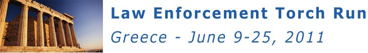Law Enforcement Torch Run in Greece, June 9-25, 2011