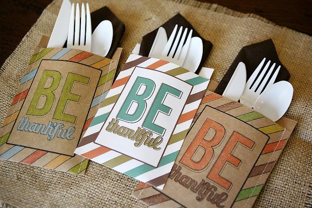 Be Thankful Utensil Holders for Thanksgiving