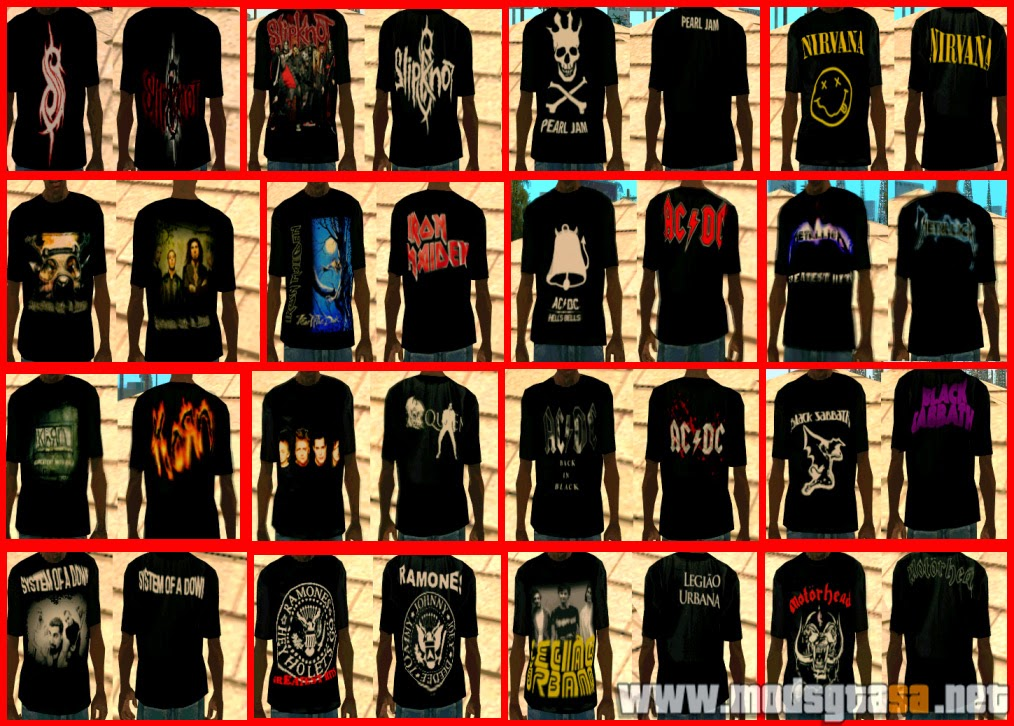 SA - Pack de Camisas de Rock