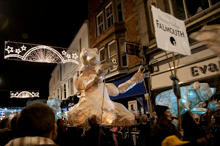 Falmouth uni lantern at Truro city of lights festival
