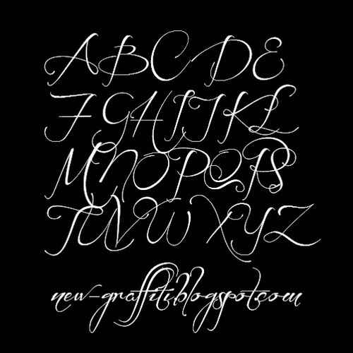 Cursive Graffiti Writing Alphabet Before The Rain Font
