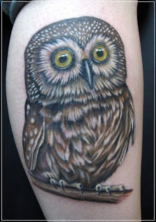 Owl Design Tattoo