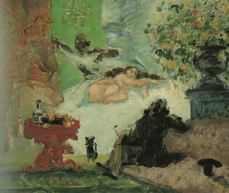 CÉZANNE, Paul: Uma Olimpia Moderna (1872, óleo/ tela, 46 cm x 55,5 cm, no acervo do Museu d' Orsay)