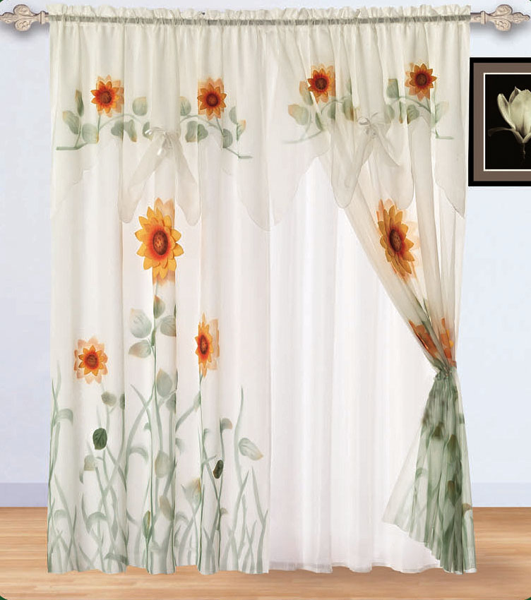 Meadow Vista Yard Sale Sunflower Bedspread Set Matching Curtains