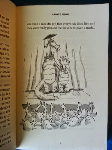 Arvor's Schooldays book for reluctant readers inside page example