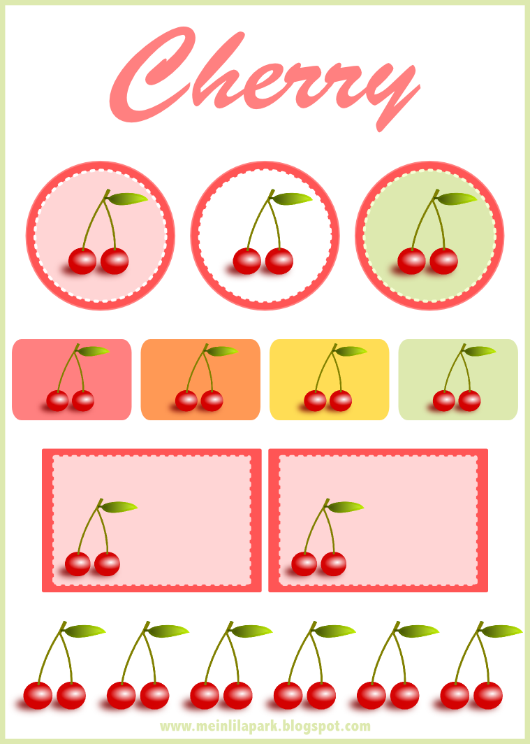 free digital cherry scrapbooking embellishment and printable tags ...