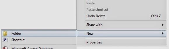 membuat folder baru dengan mouse dan keyboard
