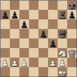 Partida Rico-Russel en el II Encuentro Ibérico de Ajedrez 1946, posición después de 27…f4