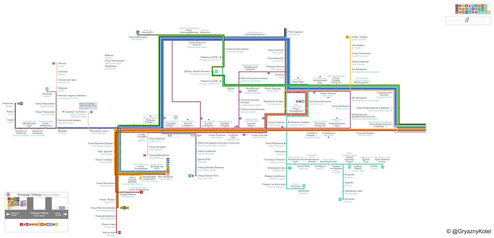 Схема вокзал владимир