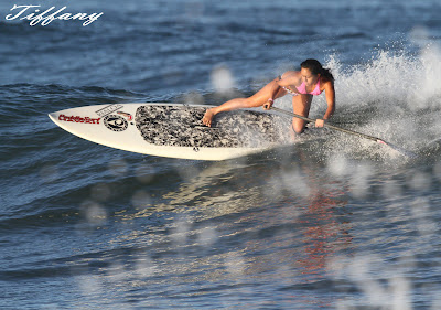 Paddle Surf Hawaii - Tiffany Paglinawan - Backside cutback on a Paddle Surf Hawaii Hull Ripper