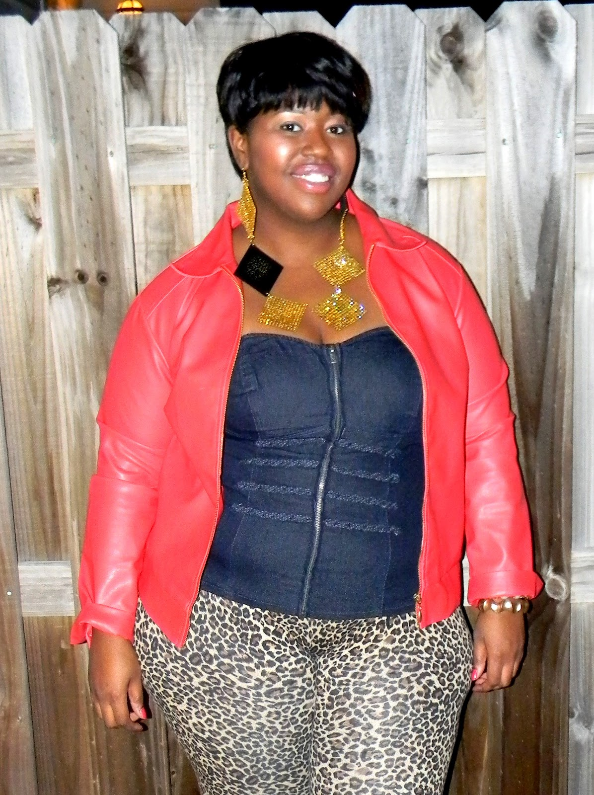 ShapEly Louise: OOTN: Leopard Blue Jean Mix