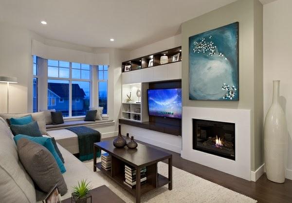 Salas peque as con chimenea salas con estilo - Salones con chimeneas modernas ...