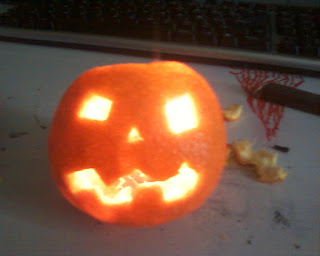 Minicalabazas de Halloween con naranjas