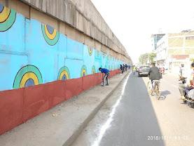 गन्दी दीवारों का रंग रूप बदला इंडिया राइजिंग ने