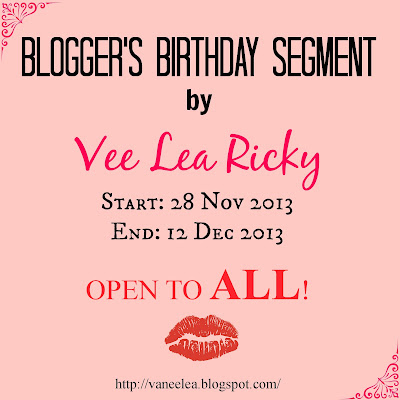 Bloggers Birthday Segmen By Vee Lea Rickey
