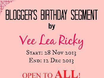 Blogger's Birthday Segment